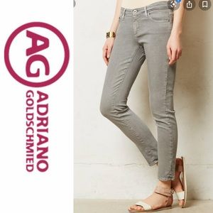 Adriano Goldschmied light grey Stevie skinny ankle
